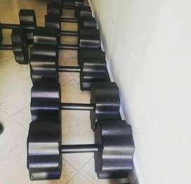 Kit Mancuernas De Concreto 11kg