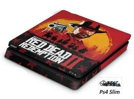 SKIN PS4 SLIM RED DEAD REDEMPTION 2