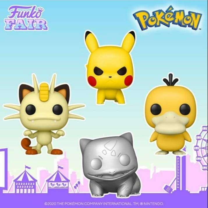 Funko Pop Pokemon Meow Pikachu Psyduck 0
