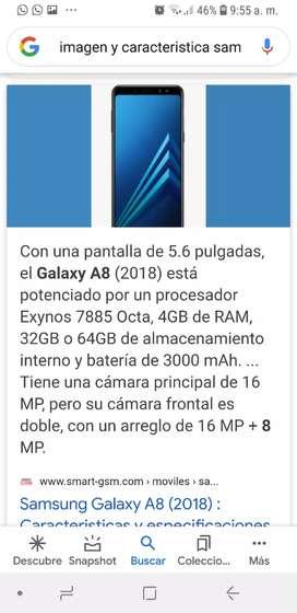 Vendo Samsung a 8 liberado 32gb y 4 de ram
