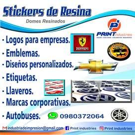 Stickers de resina - domes - encapsulados - resina