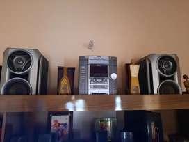 Equipo de sonido Sony más 2 parlantes.