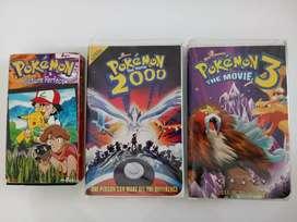 3 casettes VHS de POKEMON