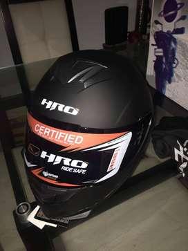 Casco integral HRO 511 solid negro mate visor Humo talla XL