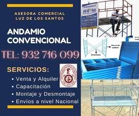 ANDAMIOS CONVENCIONALES CERTIFICADOS CON ENTREGA A DOMICILIO