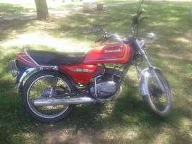 Motocicleta Clásica Kawasaki Kh 125 2 Tiempos