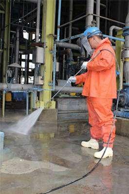 lavado y desinfeccion profunda con alta presion y temperatura