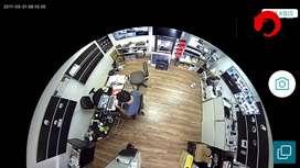Camara de seguridad bombillo 360 wifi micro sd