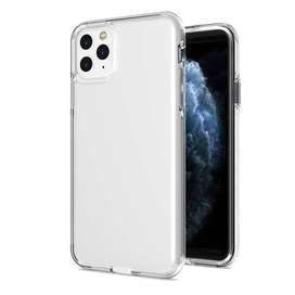 Funda De iPhone 12 11 Pro Max X Transparente Goma+tpu
