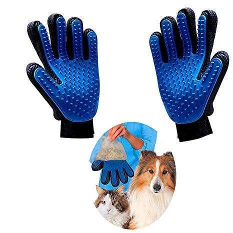 Vendo Guantes Manopla Peinador de Mascotas -Suave para Cepillado 0