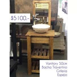Combo Vanitory + Bacha + Grifería