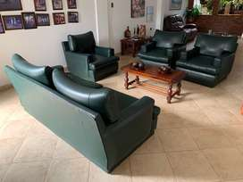 Juego de Sala - Sofa + 3 Muebles + Mesa de Centro