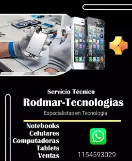 Servicio Técnico: Notebook, Tablets, Celulares,  Pc.