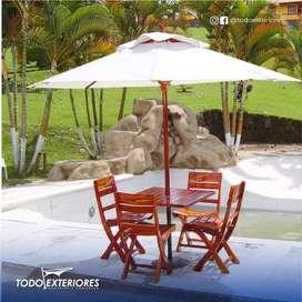 Parasol Tipo Sombrilla Toldos muebles madera granadillo