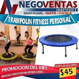 Trampolín fitness para deportes y juguete ideal
