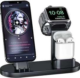 Soporte De Carga Olebr 3 En 1 For Iphones Iwatches & AirPods