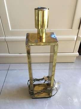pie de lampara bronce