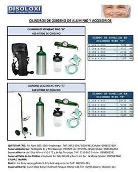 Venta-Alquiler y Mantenimiento de equipos para oxígeno terapia entrega inmediata, atención 24/7