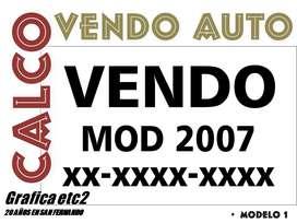 CALCO DE VENDO X 1 EN VINILO 1 COLOR