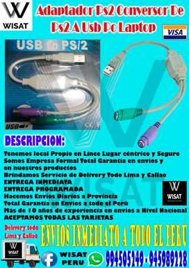 Adaptador Ps2 Conversor De Ps2 A Usb Pc Laptop