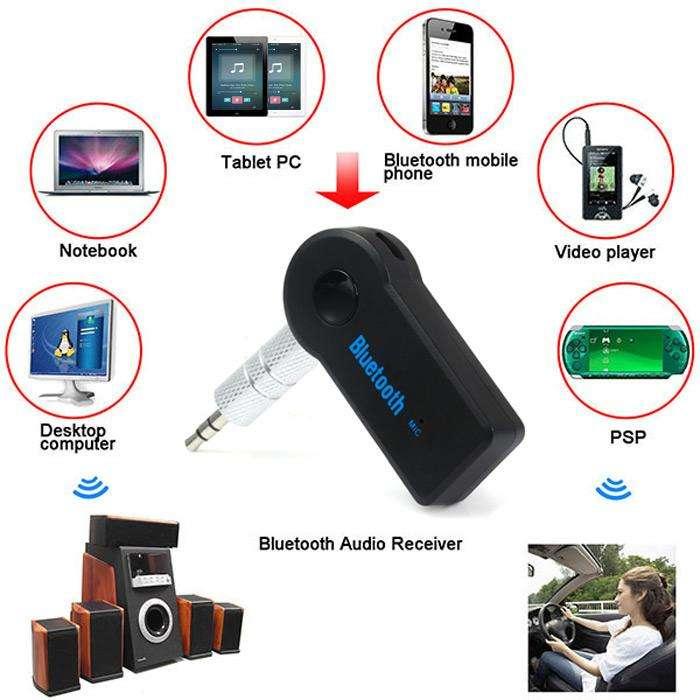 Receptor Bluetooth de audio  música micrófono carro o residencia 0