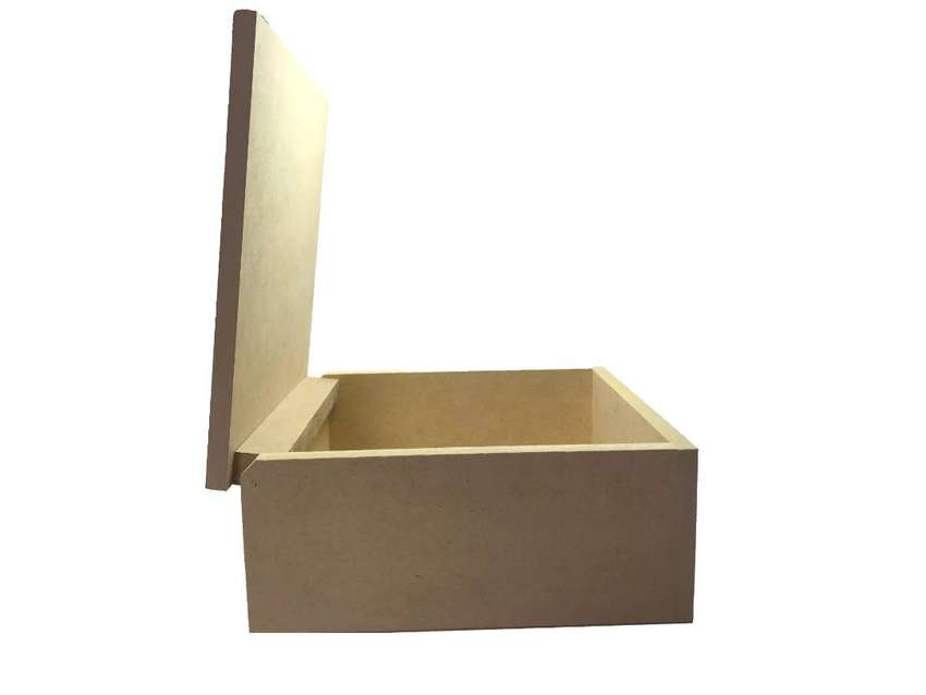 cofre, caja con tapa en madera  mdf ideales para regalo ,decoración, detalles , manualidades medidas 20x20x9