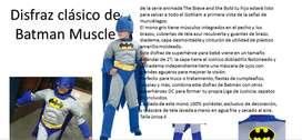 disfraz batman azul musculos para niño