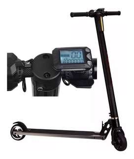 Monopatin Electrico Scooter Recargable Plegable Luz Led