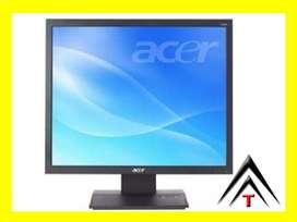 monitor computador LCd gran tamaño 24 bajo consumo accesorios, energía, USADO U16