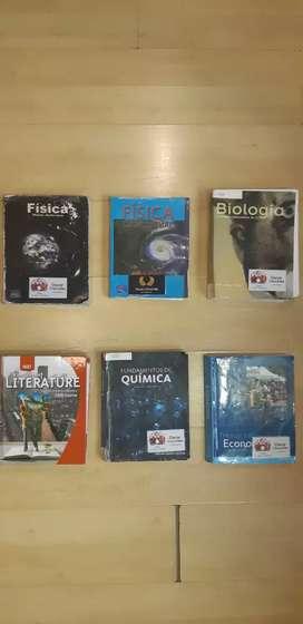 Física Wilson Buffa, Fisica Conceptual, Biología Conceptos y aplicaciones, Elements of literature 5th course, Quimica...