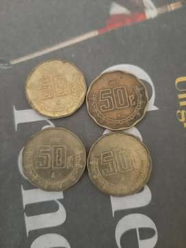 50 centavos Mexicano con error 1993