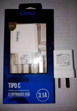 NUEVO cargador carga rápida TIPO C 3.1 y cabezal de cargador Samsung original 1.0A.