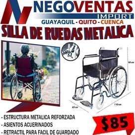 SILLA DE RUEDAS METALICA EXCLUSIVAMENTE EN LOS MEJORES PRECIOS SOLO NEGOVENTAS