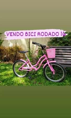 Bicicleta Niña Rodado 16, Marca Aita.