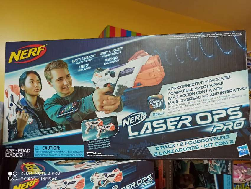 Nerf profesional láser ops pro - Pistola láser hasbro nuevo - 2 pistolas 0