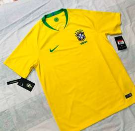 Camiseta Titular Selección de Brasil 2018-19 Totalmente Original
