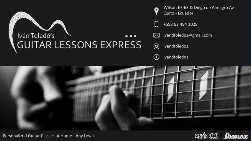 Clases de Guitarra a domicilio/Guitar Lessons at Home 0