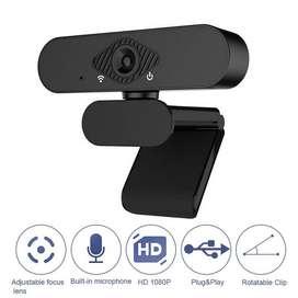 Cámara Web Pro Web Cam HD 1080p Con Micrófono USB Videollamada