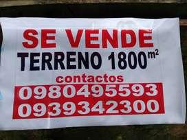 VENTA DE TERRENO 1800METROS CUADRADOS