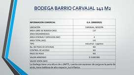 Arriendo Bodegas 3-4-5 piso Barrio Carvajal
