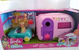 fabuloso Camper De Chelsea Barbie Muñeca