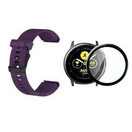 Kit Manilla Correa Manilla y Vidrio Templado Nanoglass Protector de Reloj Smartwatch Samsung Galaxy Active 44mm