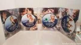 Titanic 4 DVDs Edición de Colección Lujo Exclusivo fanáticos