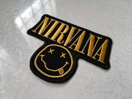 Apliques Nirvana , Red Hot Chilippers, Rolling Stones