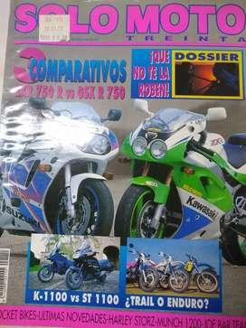 Revista Solo Moto  treinta  Nro 111 Mayo 1992 comprativo perf