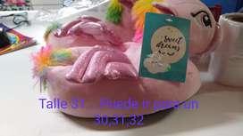 Vendo pantuflas unicornios