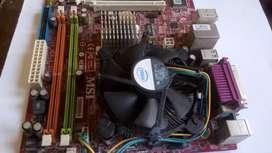 Mother MSI con procesador Intel E2200