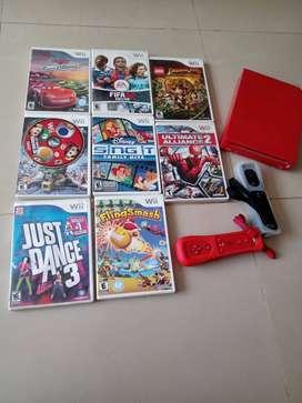 Consola Wii dos controles, 1 timón Mario Kart