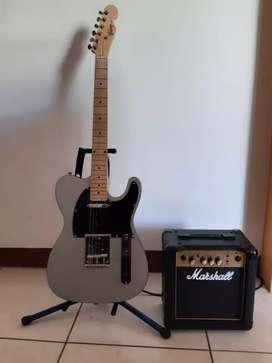 Guitarra electrica telecaster y amplificador marshall