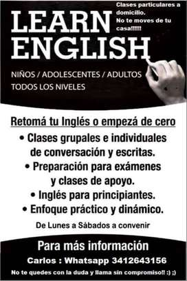 CLASES DE INGLES- PREPARO EXAMENES, CURSOSS
